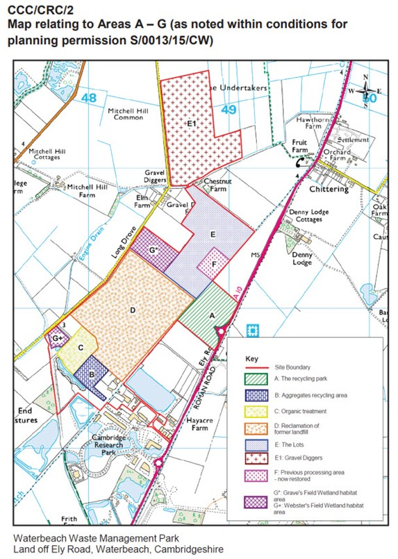 Map showing areas for permission in planning application s-0013-15-cw